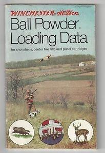 Winchester Ball powder Loading Data  12th Ed  1992